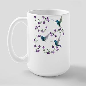Humming Bird & Morning Glory Large Mug