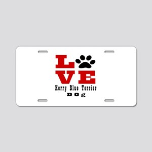 Love Kerry Blue Terrier Dog Aluminum License Plate