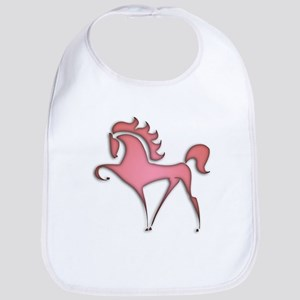 Stylized Horse (red) Bib