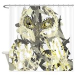 Owl Abstract Shower Curtain