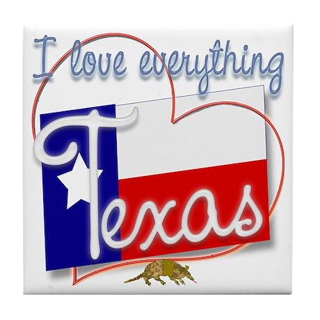 I Love Everything Texas Tile Coaster