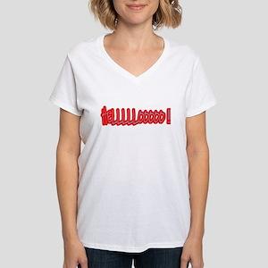Women's 'Hello' V-Neck T-Shirt