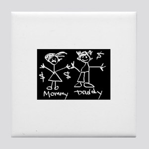 Mommy & Daddy Tile Coaster