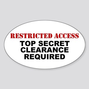 Restricted Access Oval Sticker