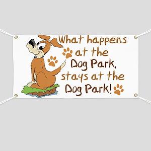 Dog Park Humor Design Banner