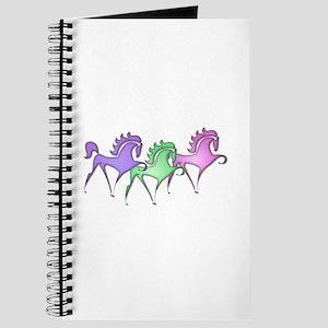 Stylized Horse Trio Journal