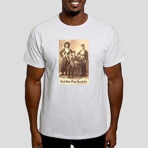 Real Men Play Mandolin Ash Grey T-Shirt