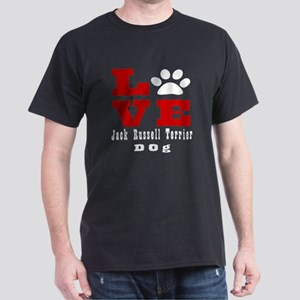 Love Jack Russell Terrier Dog Designs Dark T-Shirt