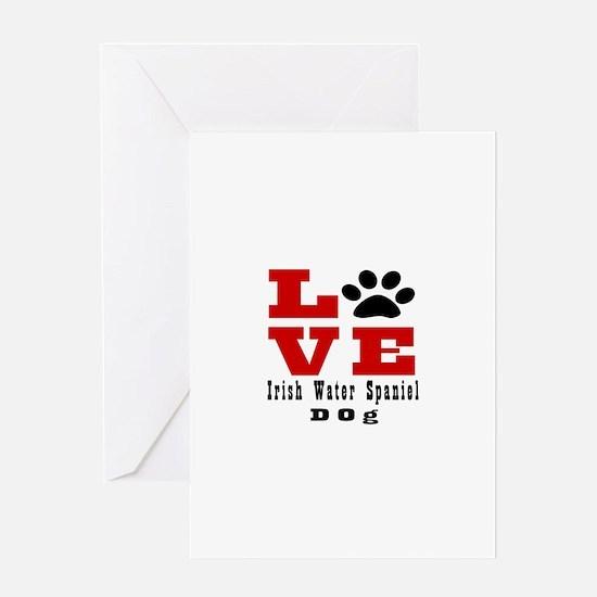 Love Irish Water Spaniel Dog Designs Greeting Card