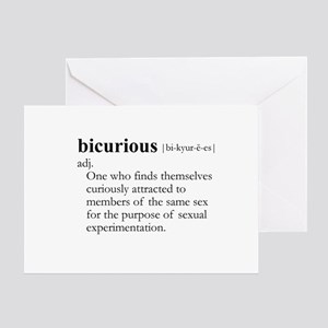 BICURIOUS / Gay Slang Greeting Card