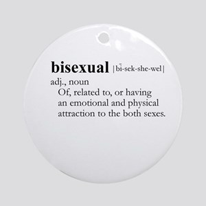 BISEXUAL / Gay Slang Ornament (Round)