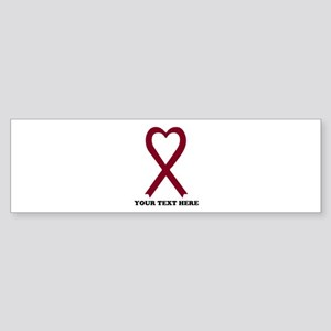 Personalized Burgundy Awareness R Sticker (Bumper)