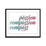 ComPassion Framed Panel Print
