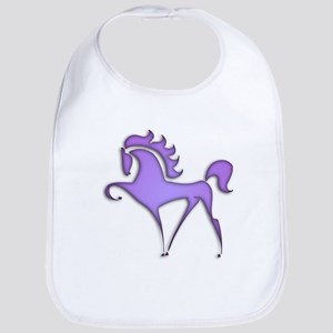 Stylized Horse (purple) Bib