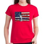 9-11-01 Never Forget Women's Dark T-Shirt