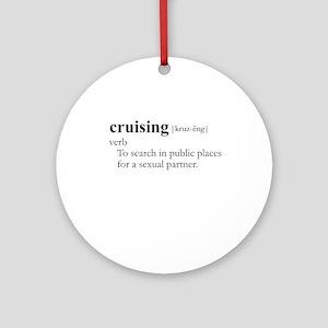 CRUISING / Gay Slang Ornament (Round)