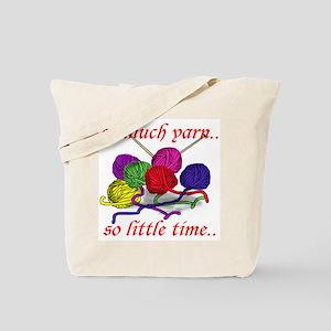 So Much Yarn Knitting Tote Bag