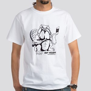 Raging Beaver - Hockey White T-Shirt