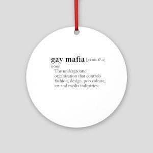 GAY MAFIA / Gay Slang Ornament (Round)