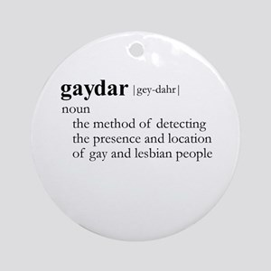 GAYDAR / Gay Slang Ornament (Round)