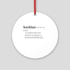 HASBIAN / Gay Slang Ornament (Round)