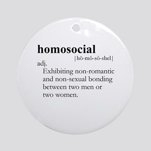 HOMOSOCIAL / Gay Slang Ornament (Round)