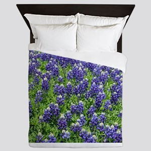 Texas Bluebonnet Field Queen Duvet
