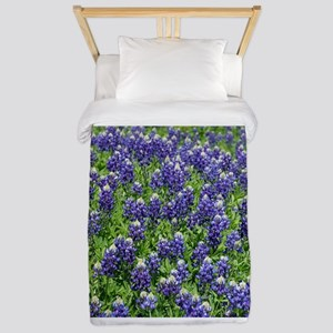 Texas Bluebonnet Field Twin Duvet Cover