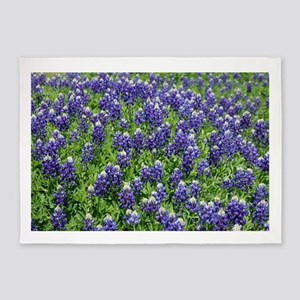 Texas Bluebonnet Field 5'x7'Area Rug