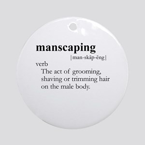 MANSCAPING / Gay Slang Ornament (Round)