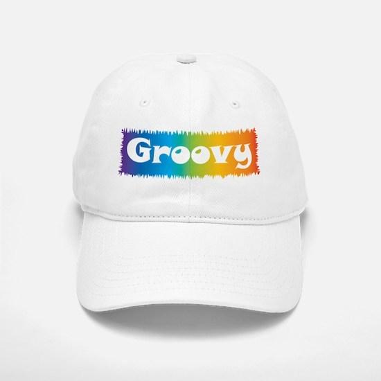 Groovy cl block Baseball Baseball Cap