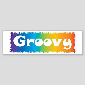 Groovy cl block Bumper Sticker