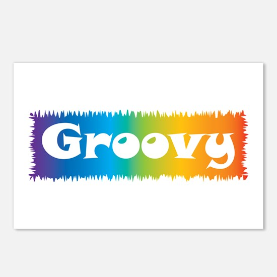 Groovy cl block Postcards (Package of 8)