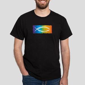 Retro Jesus Fish Dark T-Shirt
