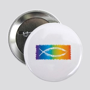 "Retro Jesus Fish 2.25"" Button"
