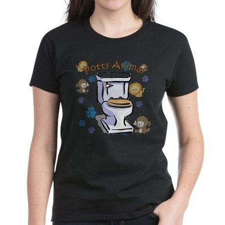 Potty Animal Women's Dark T-Shirt