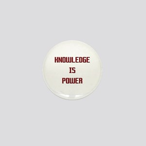 Knowledge is Power Mini Button