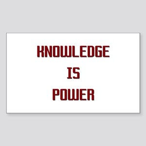 Knowledge is Power Rectangle Sticker