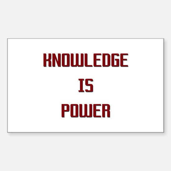 Knowledge is Power Rectangle Decal