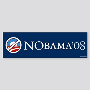 2 NoBama 08 Bumper Sticker