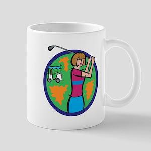 Woman Golfer Mug