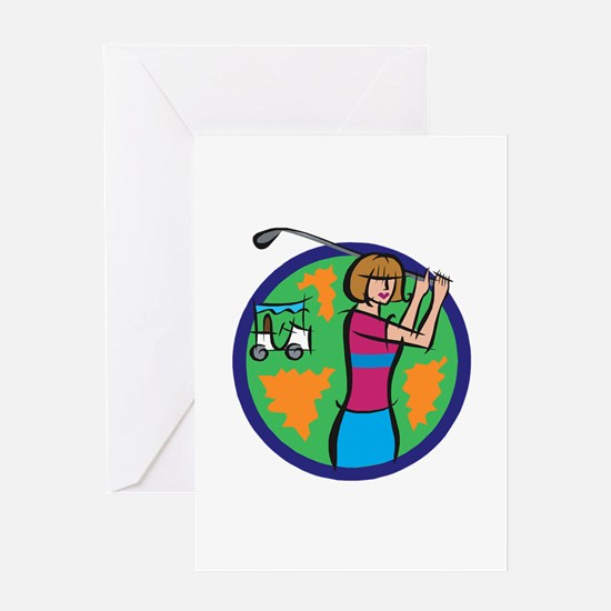 Woman Golfer Greeting Card