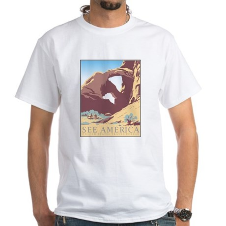 Arches National Park WPA Poster White T-Shirt