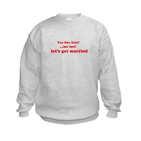 Feta Cheese Kids Sweatshirt