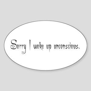 Unconscious Oval Sticker