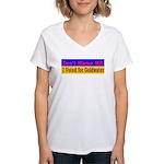 Don't Blame ME-BG Women's V-Neck T-Shirt