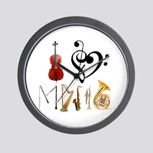 I Love Music Wall Clock