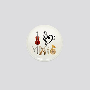 I Love Music Mini Button
