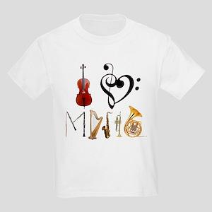 I Love Music Kids Light T-Shirt