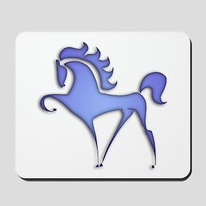Stylized Horse (blue) Mousepad